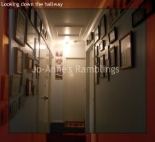 Looking down hallway
